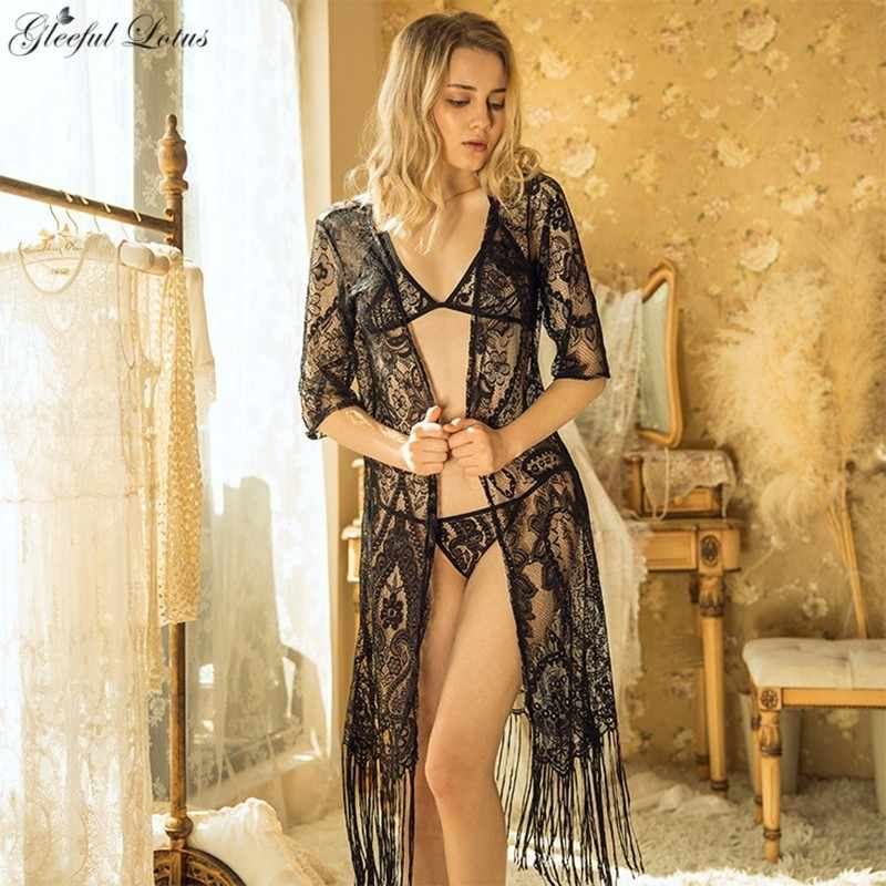 362402e1779 Sexy Nightgown Chemise Transparent Lace Nightdress Lenceria Lingerie Sexy  Babydoll Sex Shop Nightwear for honeymoon Women