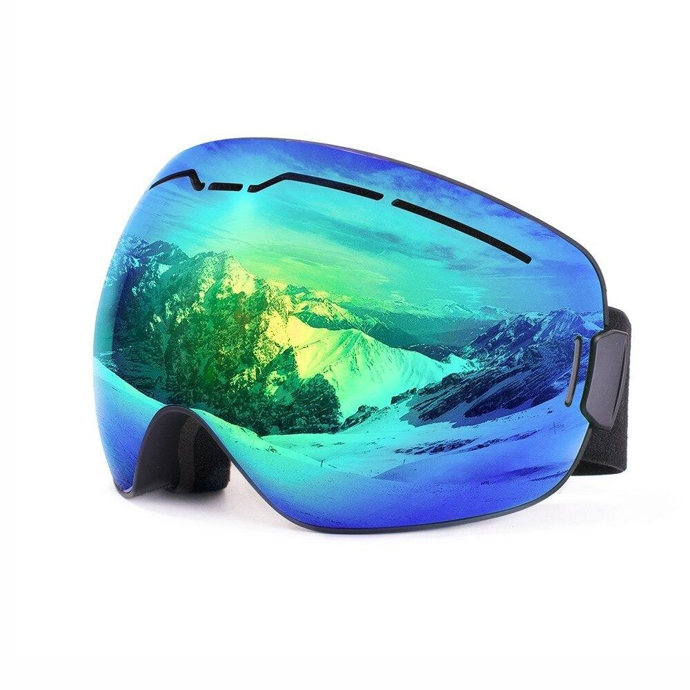 c1a3dc51cfb Esquí de nieve gafas OTG diseño para los hombres y mujeres con esférica  doble capa lente Anti-niebla UV400 Snowboard protección gafas máscara