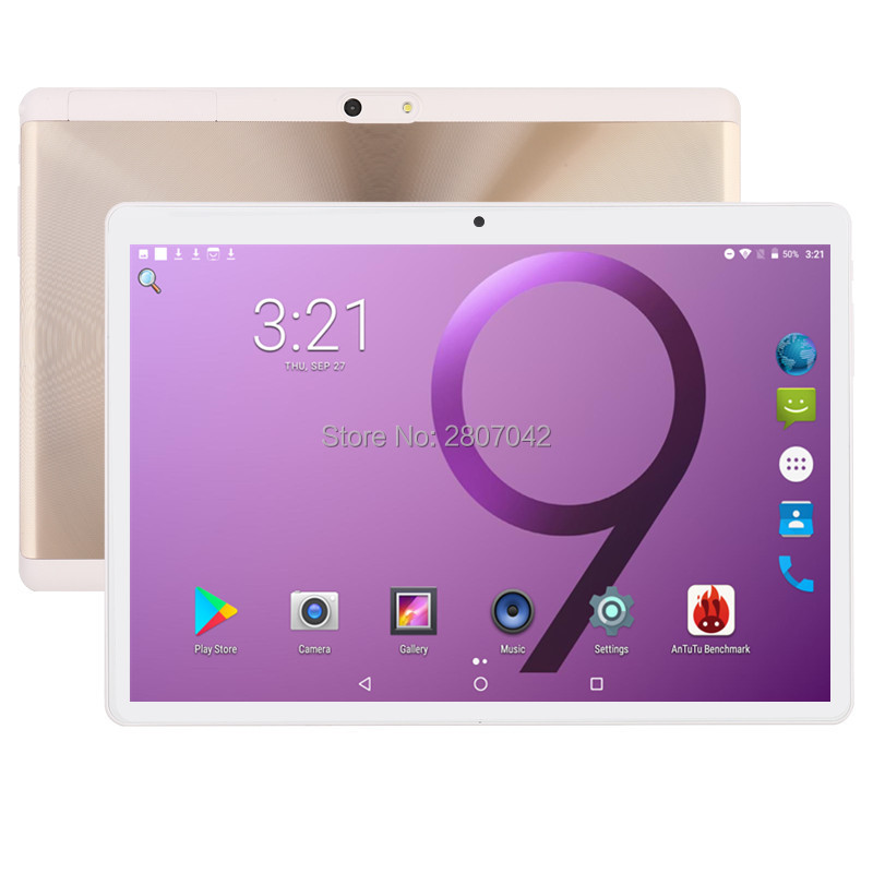 все цены на 2019 Version 10 inch tablet Android 7.0 Octa Core 4GB RAM 32GB ROM 8 Cores 1280*800 IPS 2.5D Glass Screen GPS Tablets 10.1 Gifts онлайн