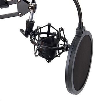 NB-35 Microfoon Scissor Arm Stand En Tafel Montage Klem & Nw Filter Voorruit Shield & Metalen Mount Kit
