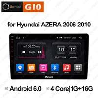 FEELDO 9 Android 6.0 4 Core/DDR3 1G/16G/Support 4G Dongle Car Media Player With GPS/FM For Hyundai Azera 2006 2010 (1din)