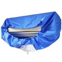 Blue Air Conditioner Cover Cleaning Dust Washing Clean Waterproof Protector
