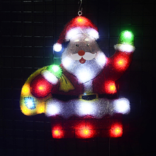 2D motif lights Santa clause - 21.5 in. Tall holiday outdoor christmas decoration party xmas home decor