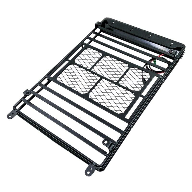 Support de bagages en métal pour porte-bagages 1/10 Rc Wrangler D90 Axial Scx10