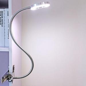Image 1 - Lampe de bureau Portable pour Clip, Rechargeable par USB, lumière à intensité réglable, idéale pour la lecture la nuit, tatouage de sourcils, Nail Art, maquillage de beauté