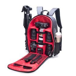 Multi-functional Waterproof DSLR Camera Backpack Bag for Outdoor Video Fotografia Double Shoulder Bags for Nikon Canon Camera
