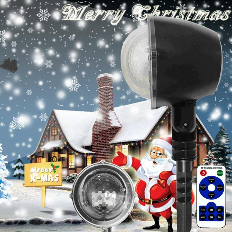 5W LED With Remote Control Christmas New Year LED Stage Party Light Moving Projector Snowflake Light Waterproof Lamp 11.11.sales5W LED With Remote Control Christmas New Year LED Stage Party Light Moving Projector Snowflake Light Waterproof Lamp 11.11.sales