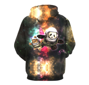 Galaxy Panda Hoodies 3D Print Hoodie Women Full Sleeves Hoodies Hooded Sweatshirt Pullover Moletom Streetwear Sudaderas Mujer 1