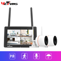 Wetrans Video Surveillance CCTV Camera Wifi Security System Kit 1080P 7 Inch Touch Screen Videcam Monitoring Camera System Audio
