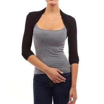 Autumn Women's Shrug Short Cardigan Tops Casual Fashion Long Sleeve Sweaters Stretchy Slim Open Stitch Cardigans Shrugs 2579