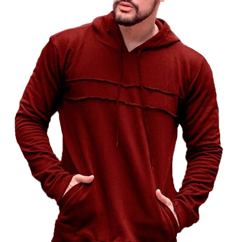 Punk Mens Hoodies Sweatshirts Ripped Patchwork Hoodie Tracksuit Joggers Crossfit Pockets Overcoats Masculina Streetwear Hiphop