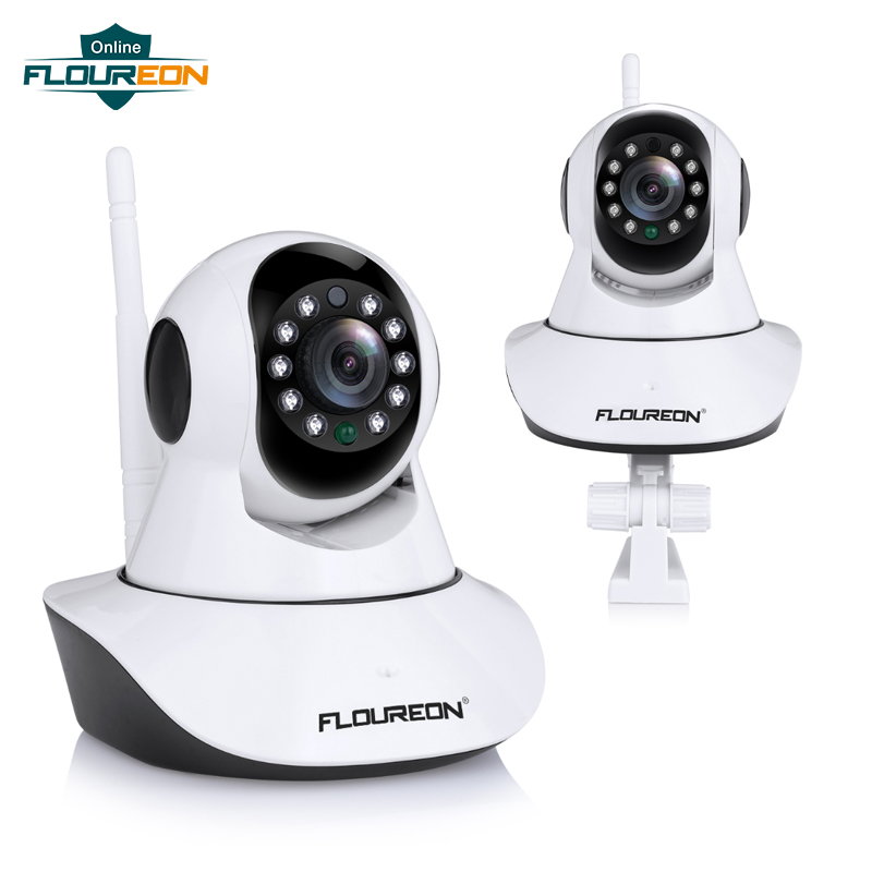 FLOUREON 720P HD Wifi Wireless Home Security IP Camera Security Network CCTV Surveillance Camera IR Night Vision Baby MonitorFLOUREON 720P HD Wifi Wireless Home Security IP Camera Security Network CCTV Surveillance Camera IR Night Vision Baby Monitor