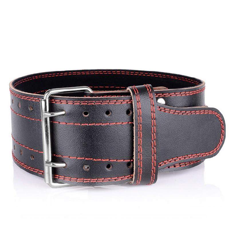 Double ceinture de musculation en cuir ceinture de Protection ceinture de Fitness musculation énergie Boost Gym soutien dorsal taille