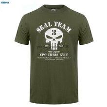 GILDAN Mens Chris Kyle Seal Team Frog Foundation American Sniper Unisex T-shirt Cool o-neck Short Sleeves Tees shirts