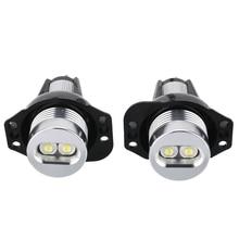 цена на 2Pcs 20W 12V Car Angel Eyes LED Headlight White Fog Marker Lights Halo Ring Light Bulb For BMW E90 E91