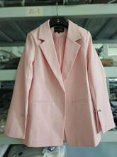 Notched Collar Split Sleeve Blazer