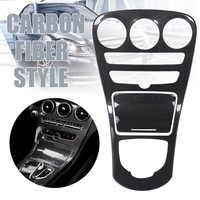 Mayitr 1set Carbon Faser Stil Center Konsole Getriebe Panel Abdeckung Für Mercedes Benz C Klasse Mit Uhr W205 C180L 15-17