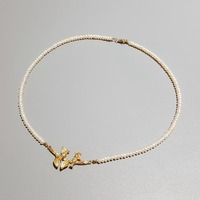LiiJi Unique Birds and Leaves Real Freshwater Pearl Tiny Beads 925 Sterling Silver Gold color Clasp Delicated Jewelry Women Gift