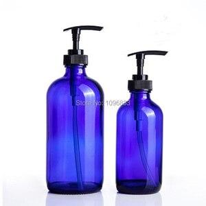 Image 5 - Glas Cosmetische Containers Flessen 240 ml Bruin Shampoo Fles Navulbare Reizen Douchegel Fles Emulsie Lotion Pomp Flacon