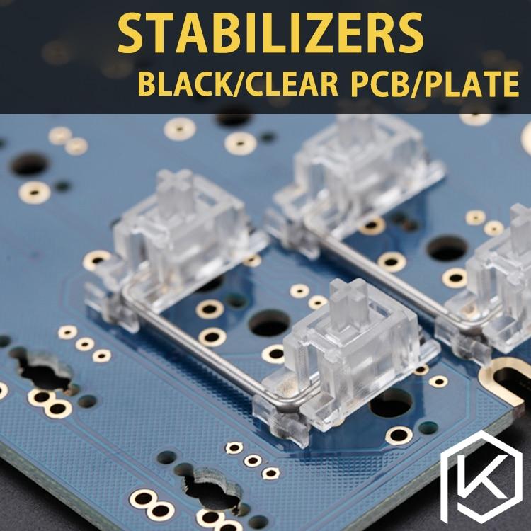 Transparent/Black PCB/Plate Stabilizer For Custom Mechanical Keyboard Gh60 Xd64 Xd60 Xd84 Eepw84 Tada68 Zz96 6.25x 2x 7x