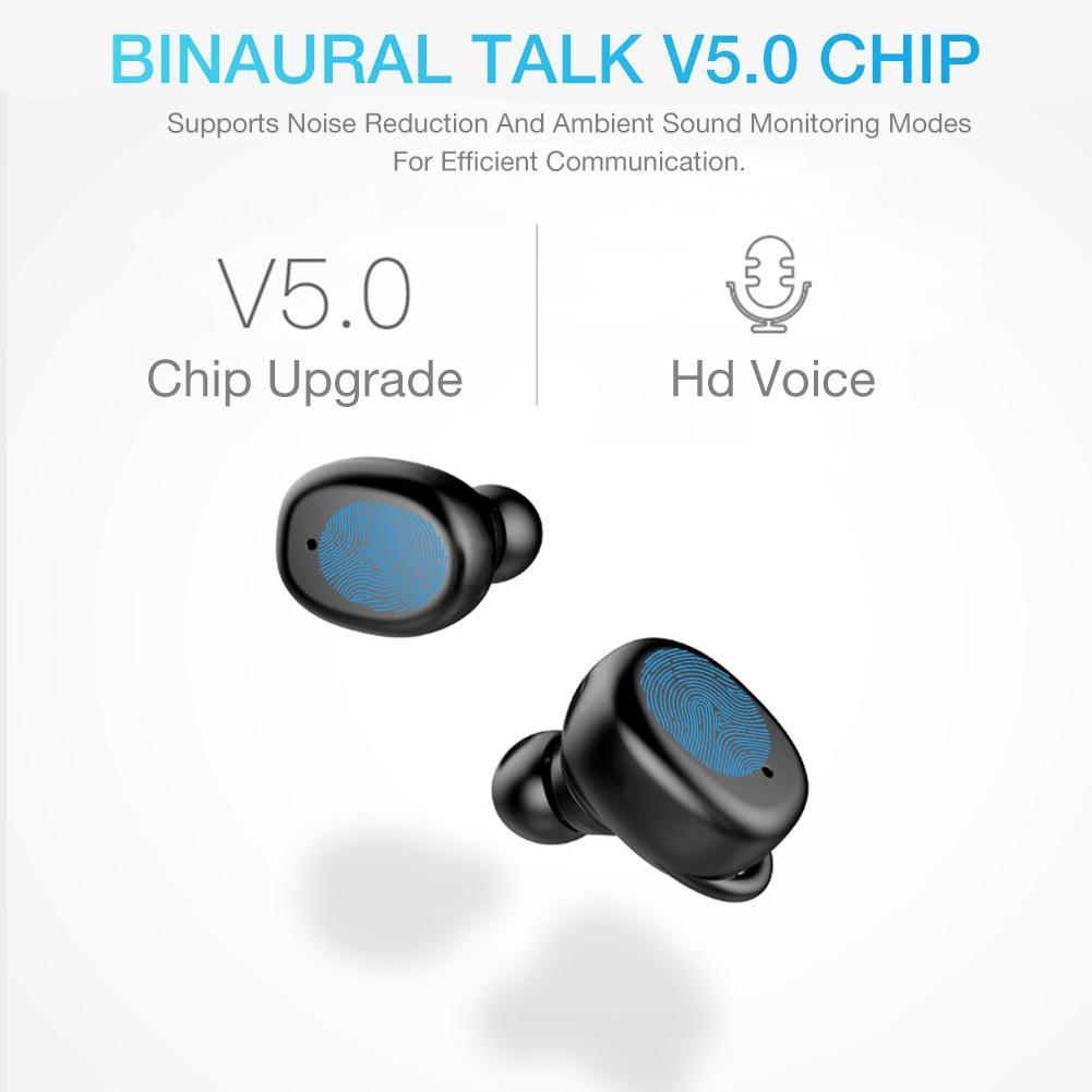 TWS 5.0 Wireless Bluetooth Headset In-ear Intelligent Noise Reduction Touch Operation Large Battery IP67 Waterproof Earphones
