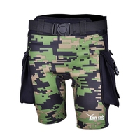 New Sale Yonsub Green Camouflage Neoprene Diving Surfing Pants Men Submersible Pocket Shorts Technical Diving Shorts Swimming