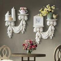 Decorative shelves in storage holders racks resin European Style home wall decor living room art Hanging mural Storage Plate