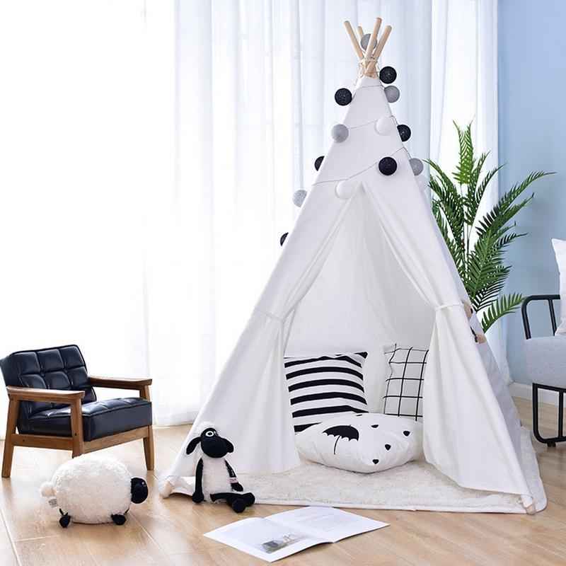 Bébé Style indien en plein air plage toile lit tente jouer maison tipi rêve princesse tentes intérieur jouet jeu Cubby maison pour les enfants