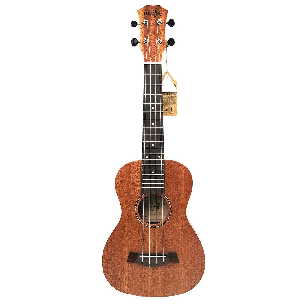 21 Inch Ukulele Mahogany Soprano Beginner Ukulele Guitar Dolphin Pattern Ukulele Mahogany Neck Delicate Tuning Peg 4 Strings W