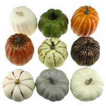 Gresorth 9 PCS Fake Pumpkins Artificial Vegetables for Home Party Halloween Christmas Decoration