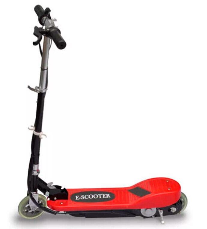 VidaXL cadeau enfants rouge trottinette électrique 120 W moteur 12 km/H Mini trottinette pour enfants de 6 ans et plus Maximum 50 kg trottinette électrique