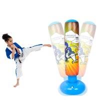 125 cm Kinder Training Fitness Aufblasbare Boxen Sandsack MMA Sport Geschwindigkeit Taekwondo PunchingTarget Tasche Haken Hängen Tasche für Kinder