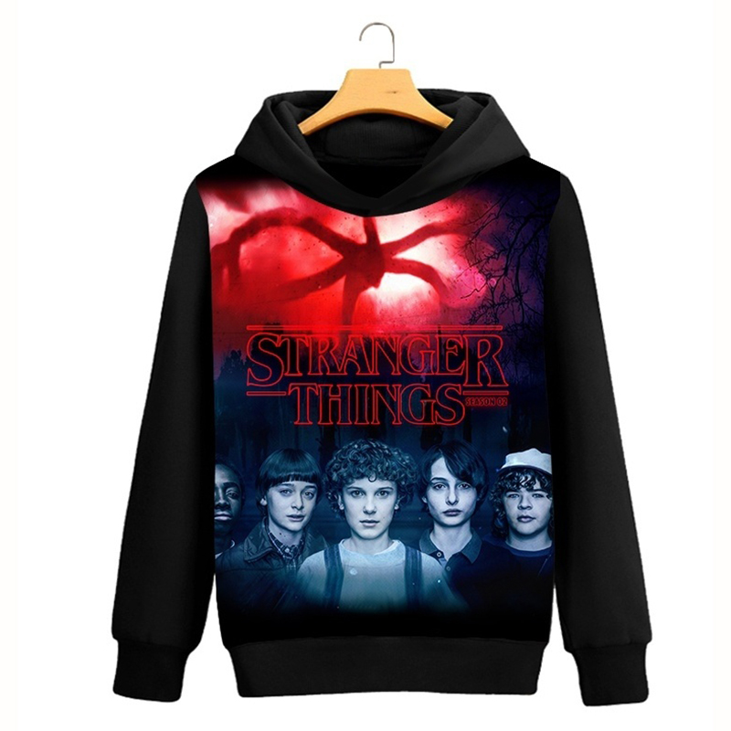 Cool Stranger Things Eleven 3D Sweatshirt Mens Hoodies Hip Hop Pullover  Sweatshirt Hoodies Autumn Winter Fashion Sweatshirts