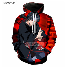 Cool 3D Print Anime Naruto Jacket Men/women Rock Streetwear Hoodies Boys Modis Tracksuits Clothes Red Fashion Tops Harajuku 5XL