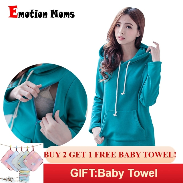 87f4a0002f6 Emotion Moms New Winter pregnancy Maternity Clothes Nursing tops for Pregnant  Women Breastfeeding Hoodie sweater Maternity