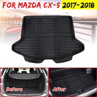 For Mazda CX 5 CX5 2017 2018 Boot Mat Rear Trunk Liner Cargo Floor Tray Carpet Mud Pad Kick Guard Protector Car Accessories