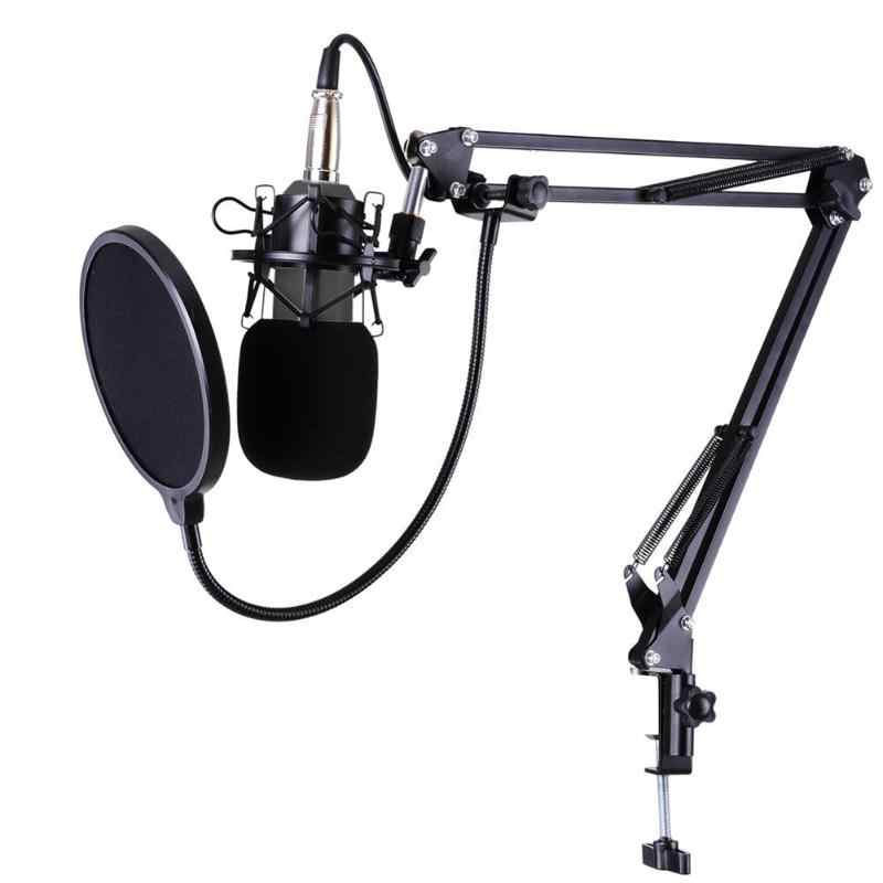 BM-800 Studio Live Streaming Broadcasting Recording Condenser Microphone High sensitivity and wide frequency response 3mA