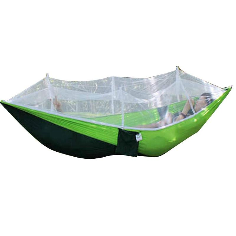 Portable Outdoor Fabric Camping Hanging Hammock Mosquito Net Parachute BedPortable Outdoor Fabric Camping Hanging Hammock Mosquito Net Parachute Bed