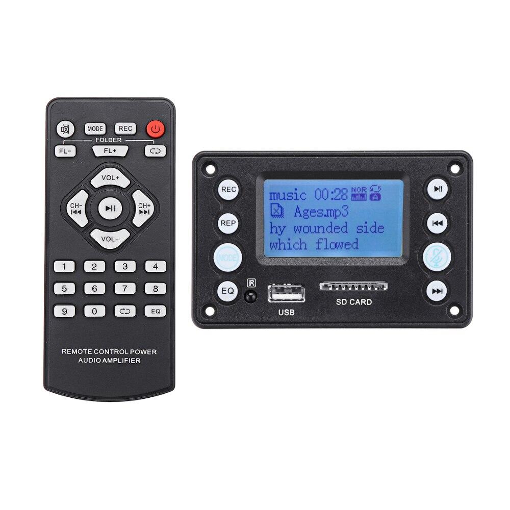 Black Grebest MP3 WMA Decoder Board Car Interior Parts Module DC 5V Automobile Car Bluetooth MP3 WMA FM AUX Decoder Board Plate Audio Module