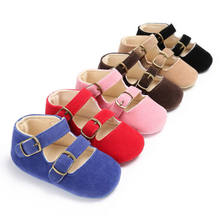 2019 Brand New Infant Newborn Cute Baby Kids Boys Girls Leather Shoes Toddler Moccasin Soft Crib Shoes First Walkers 0-18 M(China)