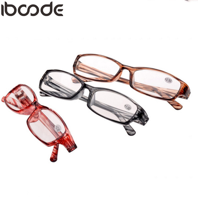 iboode Ultra-light Stripe Reading Glasses Clear Lens Magnifying Presbyopic Glasses Eyeglasses Oculos Gafas For Women&Men Mirror