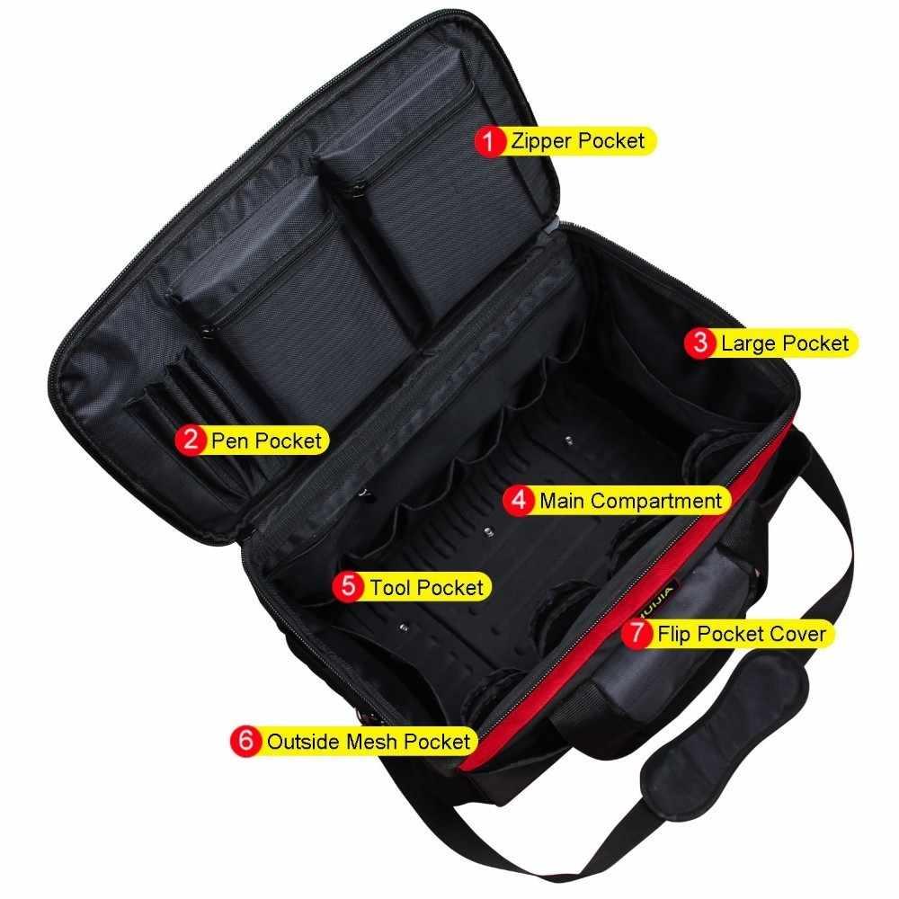 المهنية أكسفورد القماش حقيبة أدوات ألومنيوم محمولة حقيبة تخزين المفك الحقيبة الأجهزة إصلاح أدوات أدوات نجار كهربائي حزمة