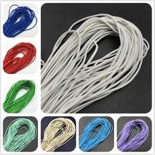 5 ярдов 2 мм красочные высокой упругой круглая эластичная повязка круглая эластичная веревка эластичные резинки линия DIY швейная фурнитура