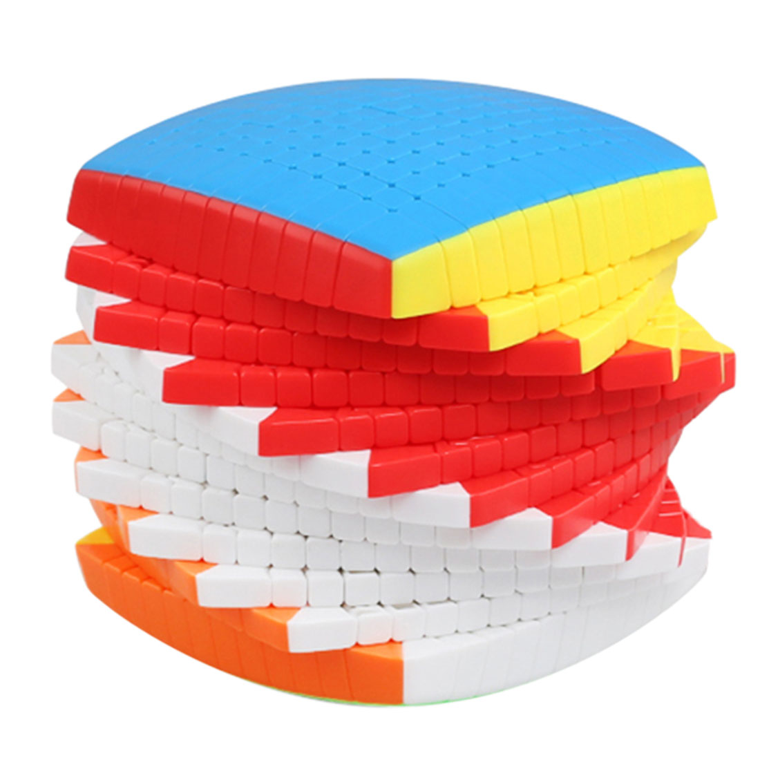 Shengshou 12x12x12 Magic Cube with Present Box for Collection Birthday Gift 2019 Colorful