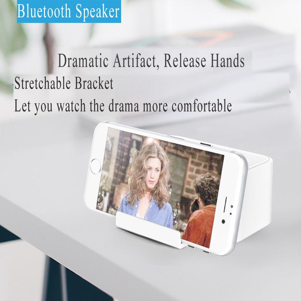 Multifunction Smartphone Holder Bluetooth Speaker Desktop Sound Amplifier Portable Storage 2 Speakers Loud Volume For iOS