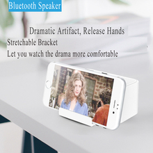 Multifunction Smartphone Holder Bluetooth Speaker Desktop Sound Amplifier Portable Storage 2 Speakers Loud Volume For iOS
