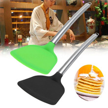 Новинка, силиконовая лопатка с антипригарным покрытием, омлеты для блинов, гамбургеров, кухонный инструмент, 2 цвета