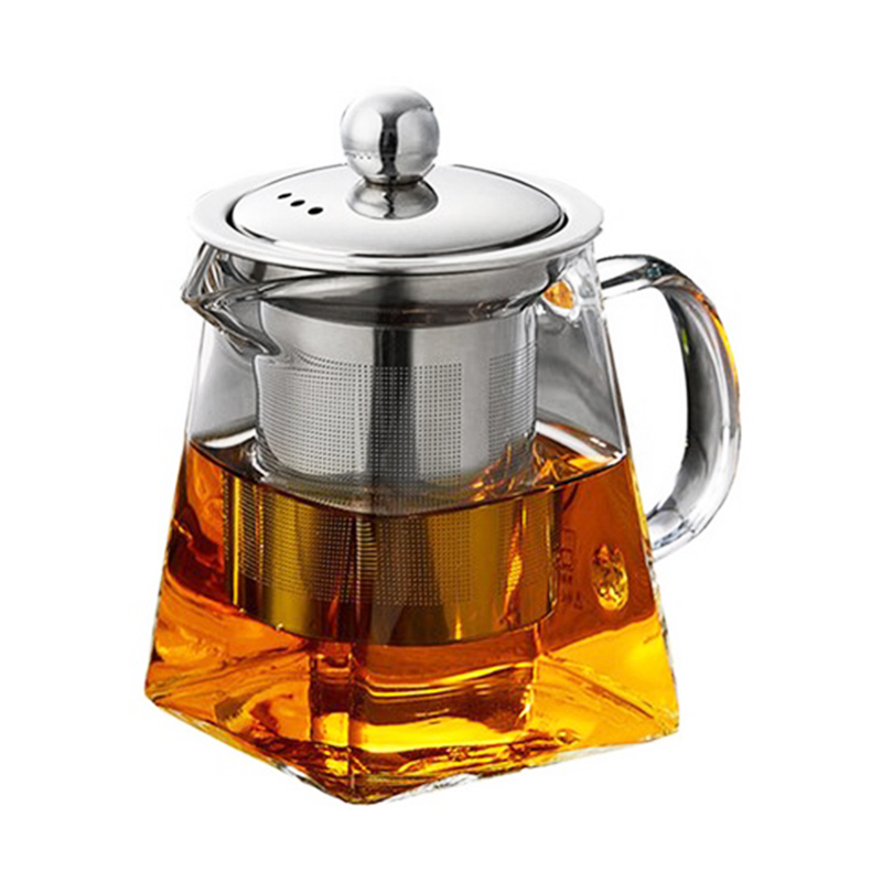 LUDA Glass Teapot With Stainless Steel Infuser And Lid For Blooming And Loose Leaf TeaLUDA Glass Teapot With Stainless Steel Infuser And Lid For Blooming And Loose Leaf Tea