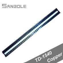Copper TD-1540 DIN rail Terminal Block Guide Group Combine Connection Dual Row 40P 15A/600V Screws Strip Barrier цена