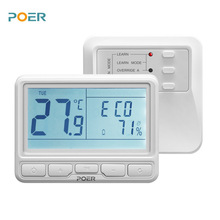 Wireless Boiler Room Controller 868MHz Heating Thermostat Weekly Programmable With Large LCD, App Remotely Control
